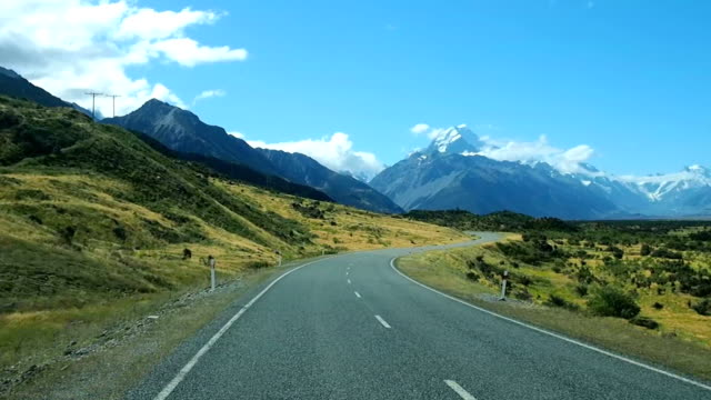 road trip in south island new zealand - new zealand stock videos & royalty-free footage