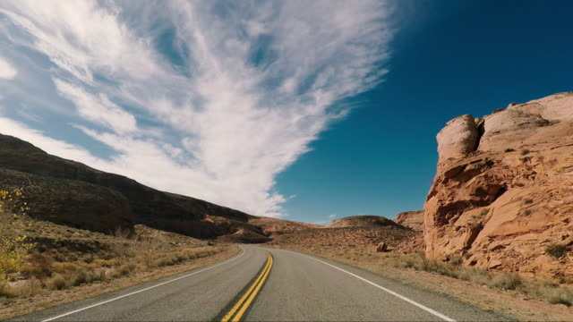 road trip in the united states - utah video stock e b–roll