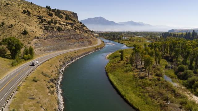 rv road trip in western landscape - idaho stock videos & royalty-free footage