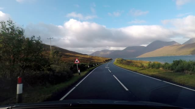 road trip on the isle of skye, scotland - tarmac stock videos & royalty-free footage