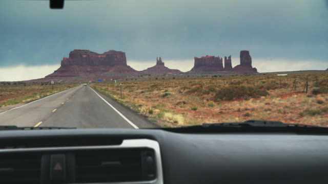 pov road trip through monument valley, utah - car interior stock videos & royalty-free footage