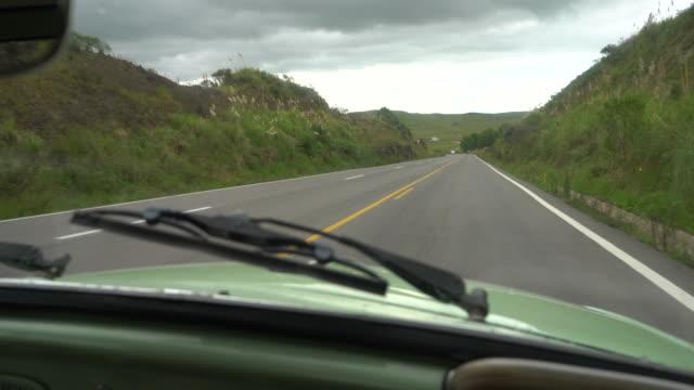 road trip through rota do sol (route of the sun) in southern brazil - stato di rio grande do sul video stock e b–roll