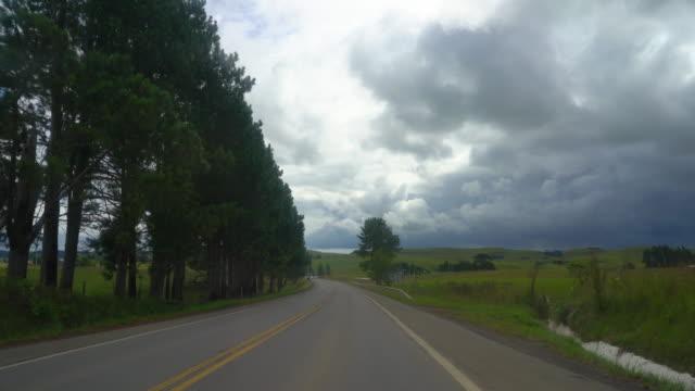 road trip through rota do sol (route of the sun) in southern brazil - bundesstaat rio grande do sul stock-videos und b-roll-filmmaterial