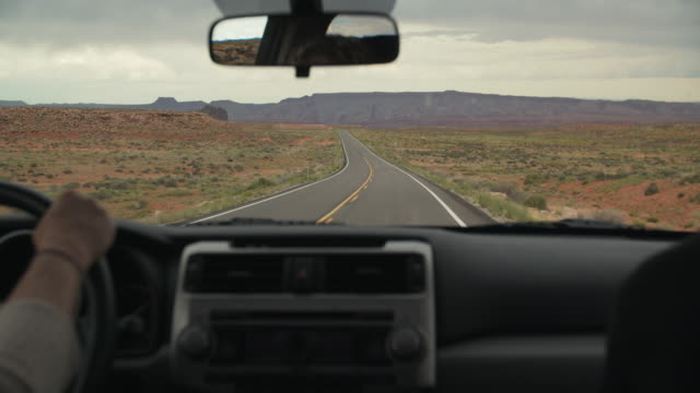 road trip through the deserts of utah - car interior stock videos & royalty-free footage