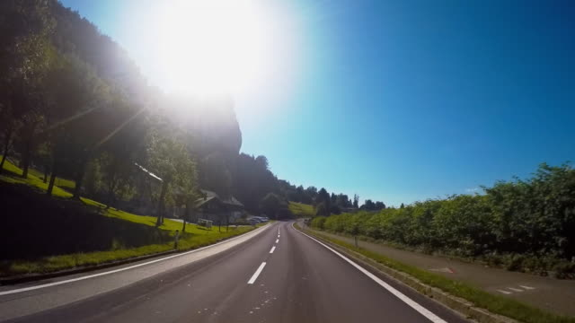 road trip to europe - road marking stock videos & royalty-free footage
