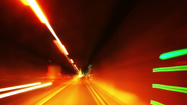 pov t/l road tunnel drive - geschwindigkeit stock videos & royalty-free footage