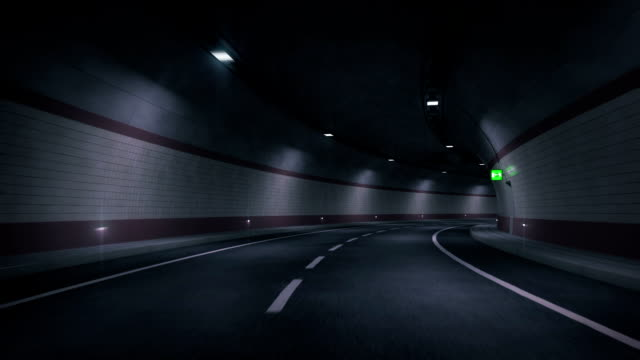 stockvideo's en b-roll-footage met road tunnel. hd loop. - tunnel