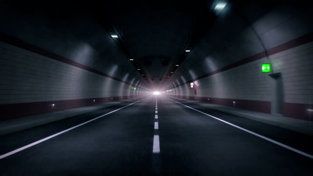 Road tunnel. HD loop.