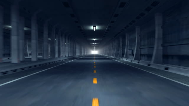 road tunnel (hd1080) - diminishing perspective stock videos & royalty-free footage