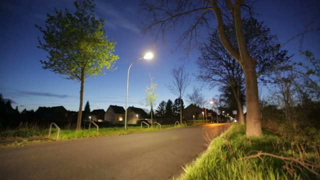 crane up: road - street light stock videos & royalty-free footage