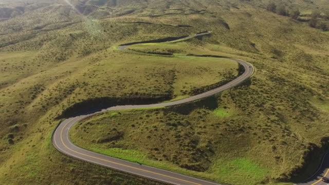 Kurvenreiche Straße Seite Maui vulkanischen Berg