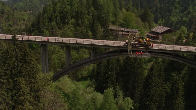 road workers at work, bridge inspection - examining stock videos & royalty-free footage