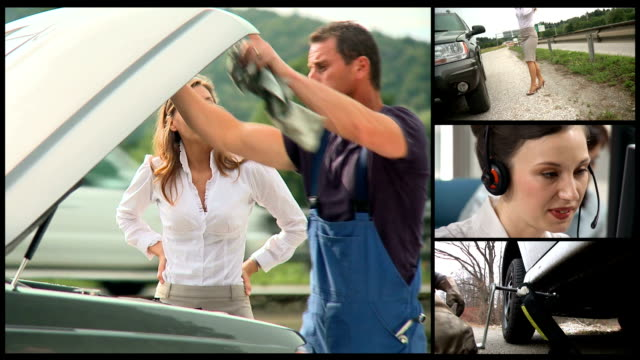 hd montage: roadside assistance - roadside stock videos and b-roll footage