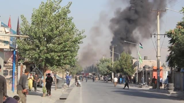 roadside bomb targeted afghan vice president amrullah saleh on september 09, 2020 in kabul, afghanistan. afghanistan's vice president survived an... - violence stock videos & royalty-free footage
