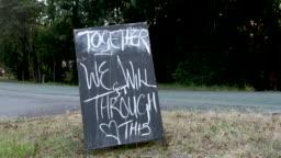 Roadside Community Spirit COVID-19 Sign