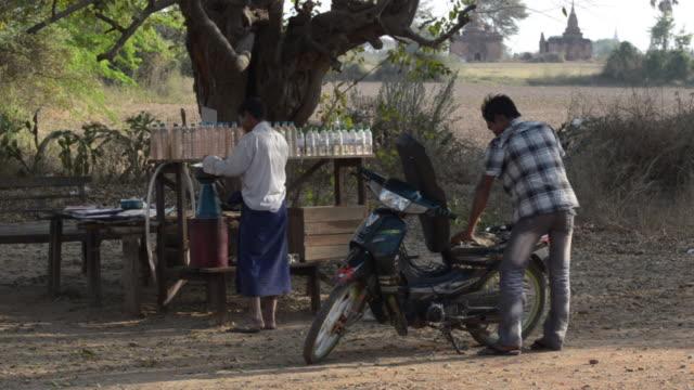 Roadside petrol station, Bagan, Myanmar