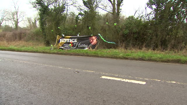 roadside tribute to harry dunn near the site where he was killed - bunch stock videos & royalty-free footage