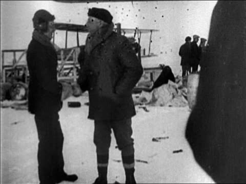roald amundsen + admiral byrd shaking hands outdoors on snow / documentary - 1926 stock videos & royalty-free footage