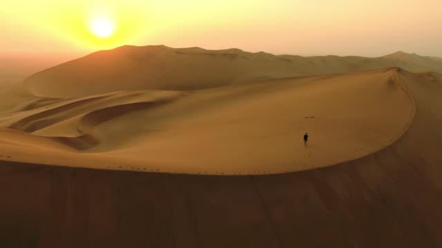 Itinérance du désert à l'aube