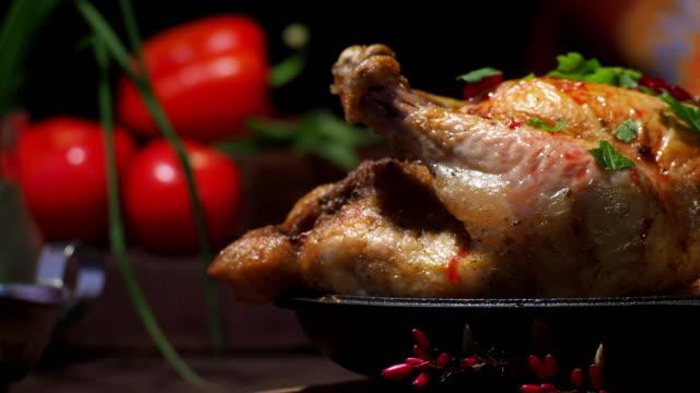 roast chicken - roast chicken stock videos & royalty-free footage