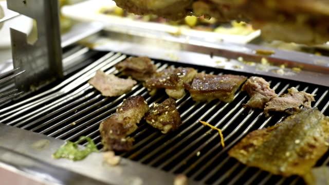 ecu roast lamb chops / shenzhen,china - kotelett stock-videos und b-roll-filmmaterial