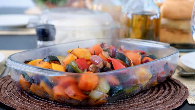 roast vegetables ready to eat - roast dinner stock videos & royalty-free footage