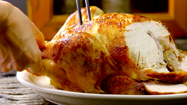 roasted chicken - chicken meat stock videos and b-roll footage