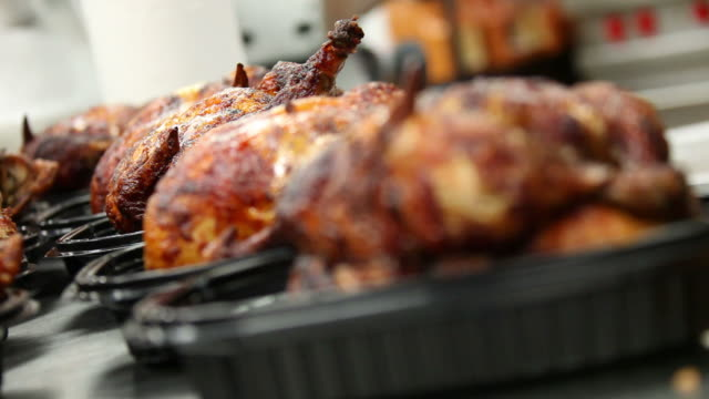 roasted chickens - roast chicken stock videos & royalty-free footage