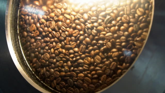 roasted coffee beans in factory - making stock videos & royalty-free footage