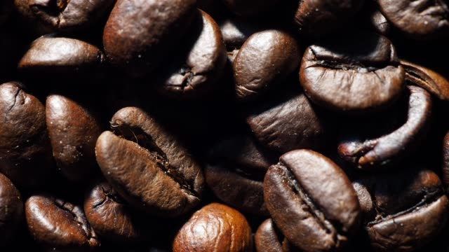 roasted coffee beans - caffeine molecule stock videos & royalty-free footage