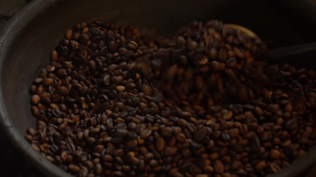 roasted coffee beans - rustic stock videos & royalty-free footage