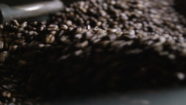 roasted coffee being cooled down - ethiopia stock videos & royalty-free footage