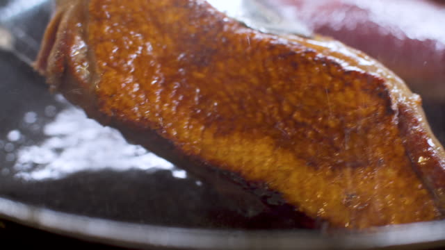 roasted duck breast - fried stock videos & royalty-free footage
