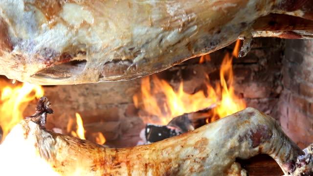 roasted lamb - kebab stock videos and b-roll footage
