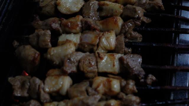 Roasting lamb skewer