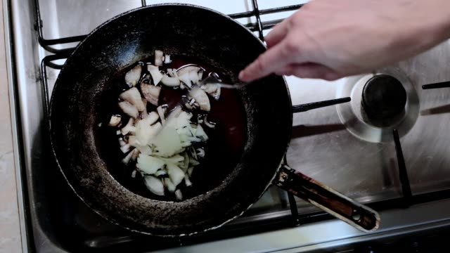 roasting onions in soy sauce. - roast dinner stock videos & royalty-free footage
