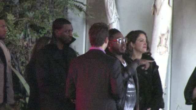 rob ai redi arrives at the emi grammy after party in hollywood 02/12/12 - emi grammy party stock videos & royalty-free footage