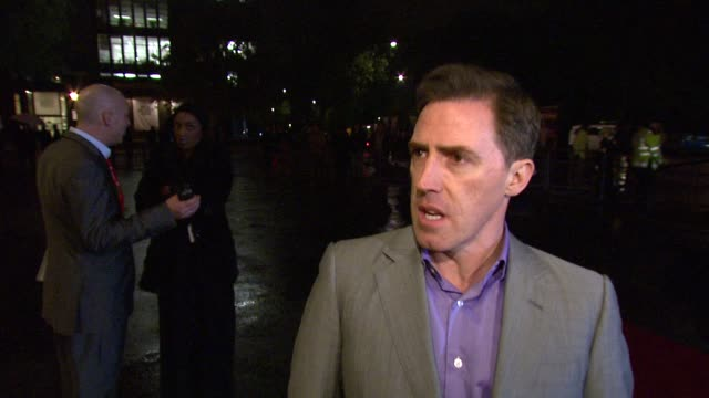 rob brydon on being an ambassador for the prince's trust, presenting at the show and his outlook for the future of the country. *guardian & telegraph... - プリンスズトラスト点の映像素材/bロール