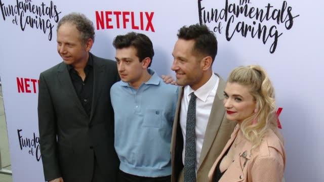 Rob Burnett Craig Roberts Paul Rudd and Megan Ferguson at A Netflix Original Film The Fundamentals Of Caring Screening at ArcLight Hollywood on June...
