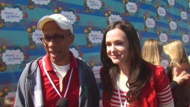 Rob Butler Danielle Bisutti on why they wanted to be a part of the afternoon what they appreciate about the Make A Wish Foundation at the Kevin...