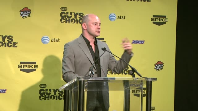 rob corddry at the spike tv's guys' choice awards at radford studios in los angeles california on june 10 2007 - spike guys choice awards video stock e b–roll