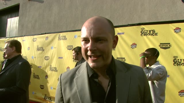 rob corddry on current projects his show getting cancelled father's day and george bush at the spike tv's guys' choice awards at radford studios in... - spike guys choice awards video stock e b–roll