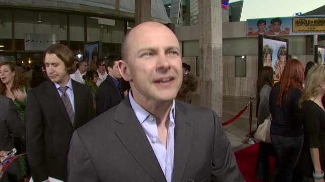 rob corddry on his role in the film on what makes the harold and kumar movies so appealing and on the political commentary in the film at the 'harold... - arclight cinemas hollywood stock videos and b-roll footage