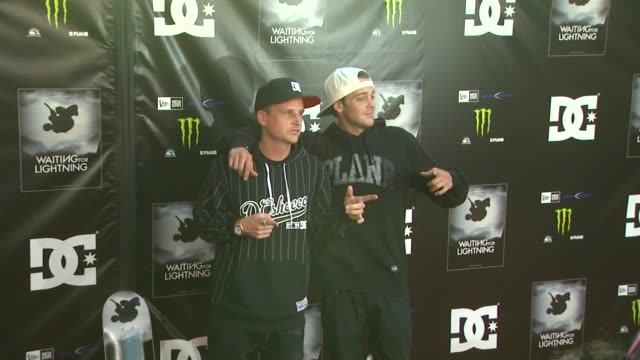 rob dyrdek ryan sheckler at waiting for lightning screening and afterparty presented by dc shoes a documentary about skateboarder danny way on... - dc shoes stock videos & royalty-free footage