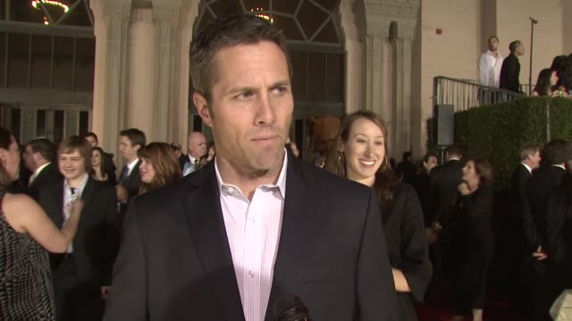 rob estes on the event, the success of 90210, working the event as a valet before hitting it big at the 35th annual people's choice awards at los... - people's choice awards stock-videos und b-roll-filmmaterial