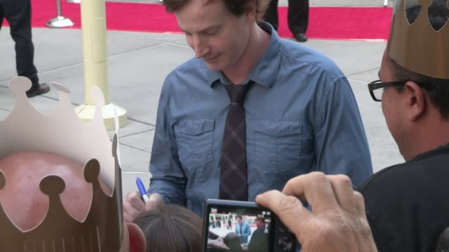 Rob Huebel greets fans at The Kings Of Summer Premiere in Hollywood 05/28/13