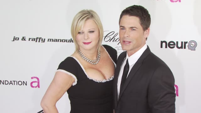 Rob Lowe and Sheryl Berkoff at the 18th Annual Elton John AIDS Foundation Oscar Party at West Hollywood CA