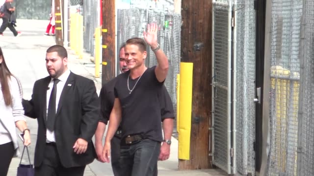 Rob Lowe arriving at Jimmy Kimmel Live in Hollywood in Celebrity Sightings in Los Angeles