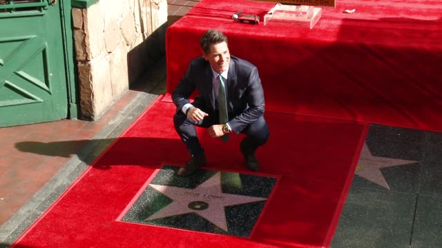 rob lowe at rob lowe honored with star on the hollywood walk of fame at hollywood walk of fame on december 08 2015 in hollywood california - rob lowe stock videos & royalty-free footage