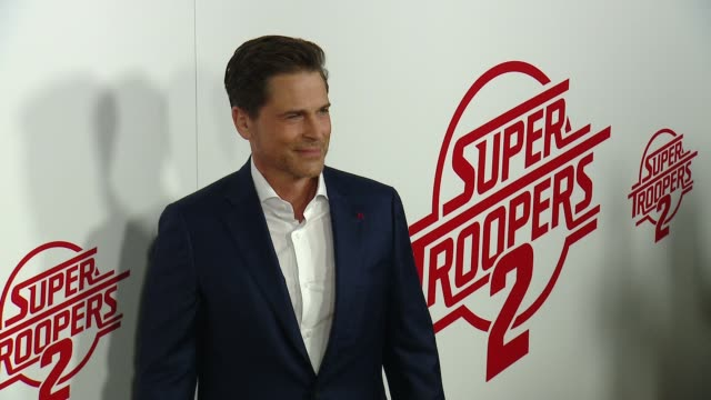 "rob lowe at ""super troopers 2"" los angeles premiere presented by fox searchlight pictures in los angeles ca - rob lowe stock videos & royalty-free footage"